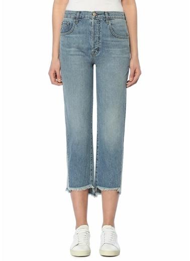 J Brand Yüksek Bel Kısa Paça Jean Pantolon Mavi